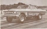 Ronnie Sox Of Greensboro NC Drag Races 427 Comet Race Car,  Arcade Type Card - Car Racing - F1
