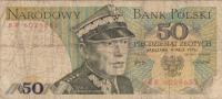 Billet  Banque POLOGNE,BANK POLSKI,50 PIECDZIESIAT ZLOTYCH,WARZAWA 9 MAYA 1975,numéro BR 6029652 - Pologne