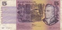 BILLET BANQUE AUSTRALIE,BANK AUSTRALIA,5  DOLLARS,FIVE,1979,numéro QBF 934075 - Emisiones Gubernamentales Decimales 1966-...