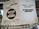 PIANTA PIANTINA FIERA  MILANO 26 ° 1948  VINO  MONIGA GARDA   IMPIANTI OLIO MONZA MISTURA SODA DONINI APERITIVO C118 - Europa