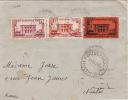 5060# MARTINIQUE Y&T N° 136 138 144 / LETTRE Obl FORT DE FRANCE 1936 Pour NANTES LOIRE ATLANTIQUE - Martinique (1886-1947)