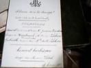 CARTONCINO PROGRAMMA SPETTACOLO CONCERT BURLESQUE 1882 Dirige M VIDAL FRANCE  C174 Missura  13,5  X 9 - Manoscritti