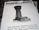 BROCHURES  DITTA DEPURATORI D'ACQUA  ROSSETTI  MILANO  1940? C190 - Pubblicitari