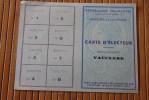 RARE JUIN 1948 CARTE ELECTEUR LISTE ELECTORALE CAVAILLON VAUCLUSE 84 ELECTEUR  NE EN 190O >PROFESSION CHEMINOT  .SNCF - Mapas