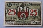 BERNBURG 25 PFENNING BILLET  DE BANQUE Banconota Banknoten DEUTSCHE GERMANY ALLEMAGNE - [ 3] 1918-1933: Weimarrepubliek