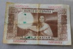 EL BANCO ESPANA 1953 BILLET  DE BANQUE Banconota  BANK 100 PESETAS - Sin Clasificación