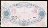 FRANCE - BANQUE De FRANCE - 500 FRANCS BLEU Et ROSE (Paris 14 MAI 1937 O) - 1871-1952 Antichi Franchi Circolanti Nel XX Secolo