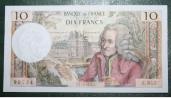 BILLET DE DIX FRANCS VOLTAIRE DATE DU 1.06.1972 - 1962-1997 ''Francs''