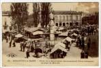 Carte Postale Ancienne Besançon - Place De La Révolution (ancienne Place Labourée) Un Jour De Marché - Commerces - Besancon