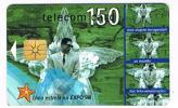 PORTOGALLO (PORTUGAL) -  PORTUGAL TELECOM  (CHIP) -  1998 EXPO 98: HOMEM DE FOGO       - USED °  -  RIF. 4175 - Portogallo