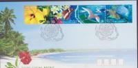 Cocos Islands, Keeling, 1999, Birds, Frigate, Butterfly, Fish, 3 FDCs - Meeuwen
