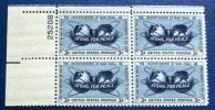 USA 1955 ATOMS FOR PEACE BLOCK MNH** - Blocchi & Foglietti