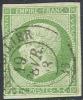 # France 13, Used, 4 Margins (fr013-4, Michel 11 [16-HE - 1853-1860 Napoleon III