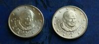 VATICAN 2011 - TWO 50 CENT COINS - Vatican