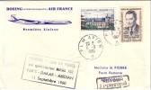1er LIAISON PARIS DAKAR ABIDJAN 11-9-1960 - CACHET PLM AVION B DU 11-9-1960 - VERSO ARRIVEE ABIDJAN. - Luchtpost