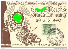 Sonderkarte Propaganda 6. WHW Reichs Straßensammlung SST FREIBURG BREISGAU 30.1.1940 TOP-Erhaltung - Alemania