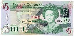 ANTIGUA CARAIBI ORIENTALI - Eastern Caribbean 5 Dollars Unc See Scan - Caribes Orientales