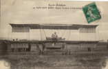 VAN DEN BORN  + BIPLAN FARMAN A L ATTERRISAGE - Airmen, Fliers