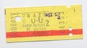 Ticket De Métro. R.A.T.P. - Métro