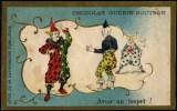 CHROMO DORÉ GUÉRIN BOUTRON PARIS - AVOIR DU TOUPET - Numéro De Cirque Avec 3 CLOWNS - RRR !!! Pour Classe Ouverte - Guerin Boutron