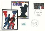 """CDG 46 """" Premier Jour D´Emission Timbre Charles De Gaulle 8/11/1980"""" - De Gaulle (Général)"""
