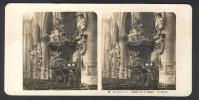 België / Belgique - Brussel / Bruxelles ± 1890 - 1905, Cathédrale St. Gudule: La Chaire - Stereoscoop
