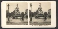 België / Belgique - Brussel / Bruxelles ± 1890 - 1905, Monument De De Bronckere - Stereoscoop