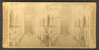België / Belgique - Brussel / Bruxelles ± 1890 - 1905, Interieur De Ste-Gudule - Stereoscoop