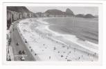 BRESIL  /  RIO  DE  JANEIRO  /  PLAGE  DE  COPACABANA  /  CARTE-PHOTO, Tirage Argentique  ( En 1952 ) - Copacabana