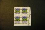 Canada 781 Flower Flora Bottle Gentian Precancelled Inscription Block LR MNH 1979*83 A04s - Numeri Di Tavola E Bordi Di Foglio