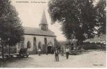 CPA 23 CREUSE CHAMBORAND PLACE DE L´EGLISE BIEN ANIMEE EN 1916 - France