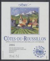 THEME DIVERS étiquette De Vin COTES DU ROUSSILLON - Bergen