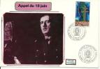 """CDG 64 """" Mémorial 5eme Anniversaire """" Colombey-les-deux-églises Le 18 Juin 1977 - De Gaulle (Général)"""