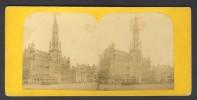 België / Belgique - Brussel / Bruxelles ± 1890 - 1905, Hotel De Villes - Stereoscoop
