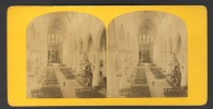 België / Belgique - Brussel / Bruxelles ± 1890 - 1905, Interieur Ste-Gudule - Stereoscoop