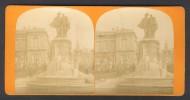 België / Belgique - Brussel / Bruxelles ± 1890 - 1905 Fontaine Des Comtes D´Egmont Et De Hornes - Stereoscoop