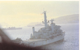 Spearhead Of The British Task Force At Anchor In San Carlos Bay, 50-70s - Falkland Islands