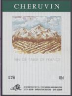 THEME DIVERS étiquette De Vin CHERUVIN VERT - MONTAGNE - Bergen