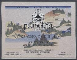 THEME DIVERS étiquette De Vin SAUVIGNON - FUJITA HOTEL - MONTAGNE - Bergen