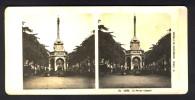 België / Belgique - Luik / Liège ± 1890 - 1905 Le Perron Liégeois - Stereoscoop