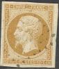 # France   14b, Used, XF+, Sound SCV$ 25.00  (fr014c-9, Michel 12 II - 1853-1860 Napoleon III
