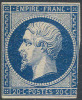# France   15c, Mint, Og,  Darg Blue, Sound  (fr015a-4, Michel 13 I.b Dunkelblau   [BGE - 1853-1860 Napoleon III