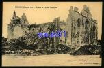 Péronne -  1919  - Façade De L'Eglise  Saint Jean -  Bombardements Guerre 1914-1918  - Excellent état  -  Réf : 21320 - Peronne