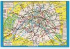 PARIS - Le PLAN Du METROPOLITAIN D´après Le Plan Eclair Des Editions A. Leconte - Carte Geographique - Other