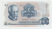 Norway 10 Kroner 1976 AXF Banknote P 36b 36 B - Norvegia