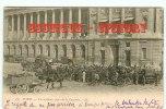 ATTELAGES & FIACRES - Accident à Paris Place De La Concorde - Cliché 1900's - Attelage Calèche Chariot Fiacre -Dos Scané - Taxi & Carrozzelle