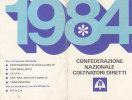 T16- Tessera Confederazione Italiana Coltivatori 1984 - Organizzazioni