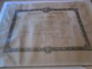Certificat Marine Nationale Croix De Guerre 1939-1945 - Francia