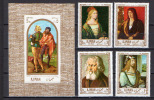 Ajman 1968 Paintings Albrecht Durer - Dürer 4 Stamps + S/s MNH - Arts