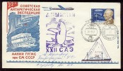 ANTARCTIC Station Leningradskaya Base Pole SAE 22 Mail Used Cover USSR RUSSIA Airship Amundsen Penguin - Unclassified